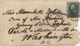 Envelope addressed to Mannahatta Whitman, October 8